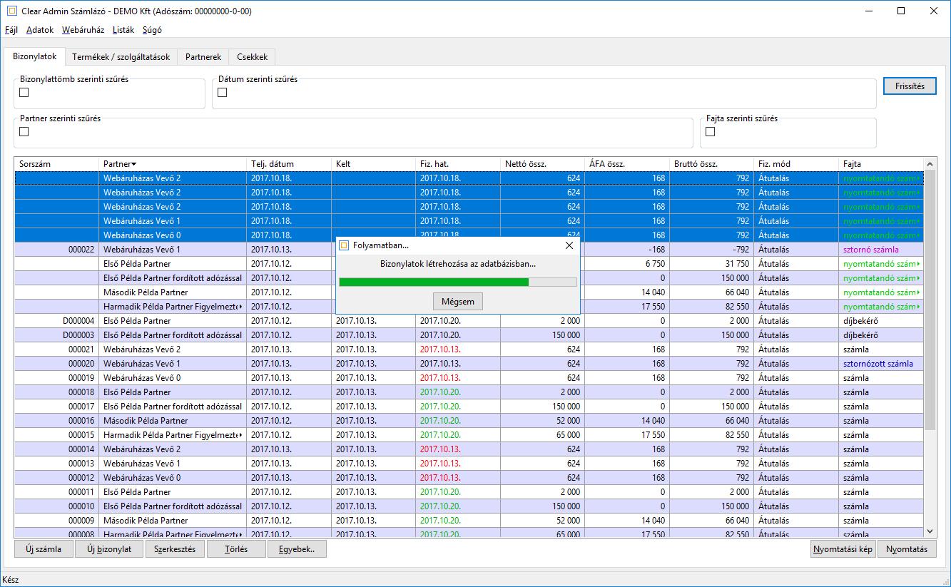 93001dbb11 Számlázó program - Webáruház modul - Clear Admin
